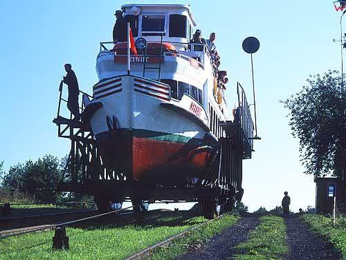 Kanał Ostródzko Elbląski - pochylnia Oleśnica