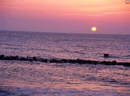 Zachód słończ nad Bałtykiem
