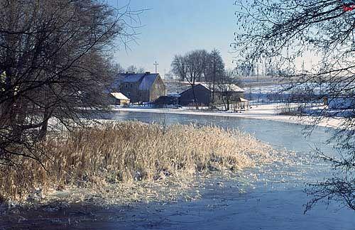 Zima okolica Mrągowa