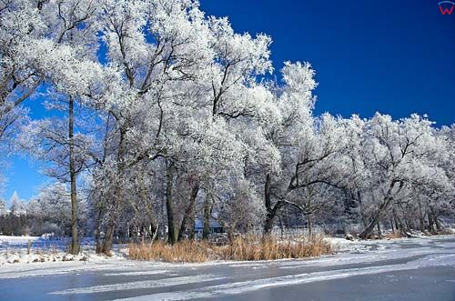 Zima nad jeziorem Dejnowa, warm-maz