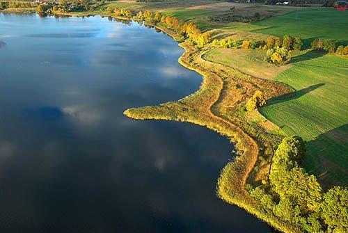 LOTNICZE. Warm-Maz, jezioro Bartag.