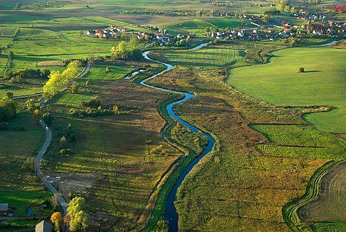 LOTNICZE. Warm-Maz, rzeka Bartag.