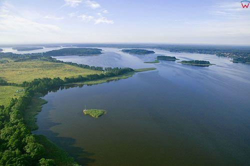 LOTNICZE. PL-Warm-Maz. jezioro Jeziorak, linia brzegowa po str. E.