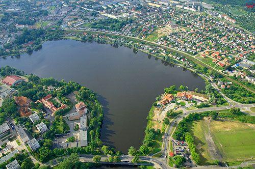 LOTNICZE. PL-Warm-Maz. jezioro Jeziorak Maly.