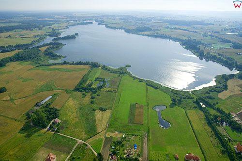 LOTNICZE. PL-Warm-Maz. jezioro Labedz, widok od str. S.