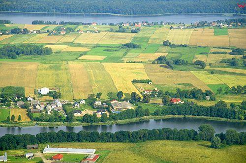 LOTNICZE. PL-Warm-Maz. jezioro Jeziorak i jezioro Labedz.