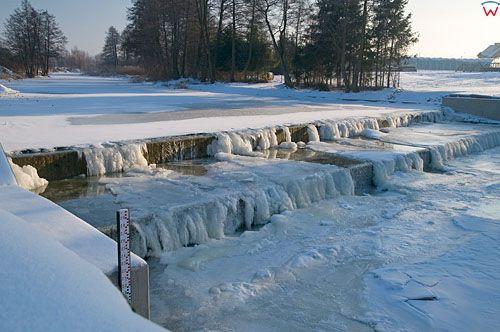 PL, Warm-Maz, zapora na rzece Lyna w Sepopolu.