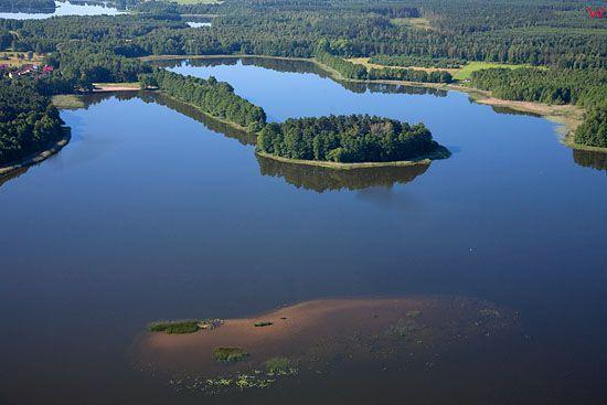 LOTNICZE, Pojezierze Mazurskie (Elckie). Jezioro Sawinda Wielka.