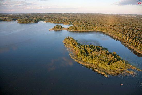 Lotnicze, warm-maz, Pojezierze Mazurskie (Elckie). Jezioro Druglin.