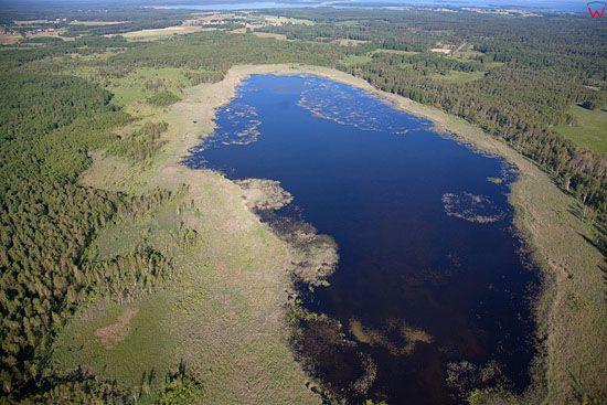 Lotnicze, Pl, warm-maz. Pojezierze Mazurskie, jezioro Glebowko.