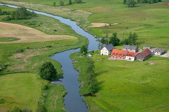 Lotnicze, Pl, warm-maz. Mazurski Park Krajobrazowy. Rzeka Krutynia na odcinku w Ukcie.
