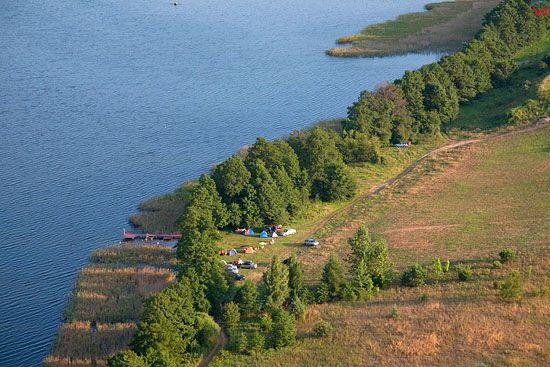 Lotnicze, PL, warm-maz. Jezioro Dabrowa Wielka.