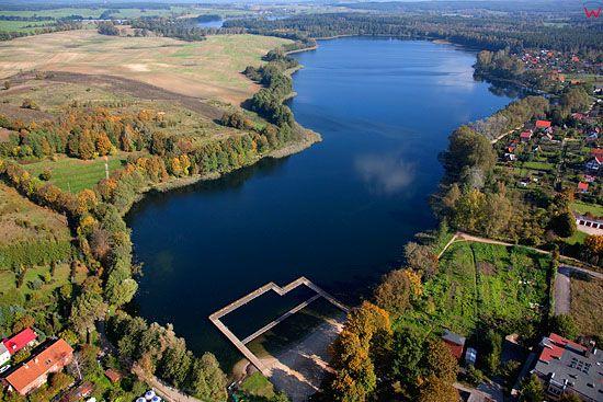 Lotnicze. Pl, warm - maz. Jezioro Olow.
