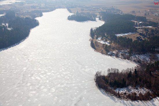 Pl, warminsko-mazurskie, Lotnicze. Jezioro Wagiel.