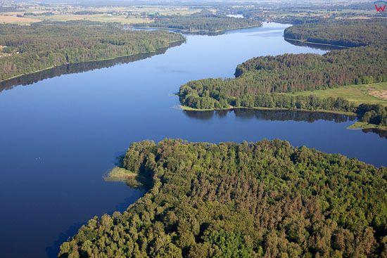 Lotnicze. PL, warm-maz. Jezioro Ruda Woda.