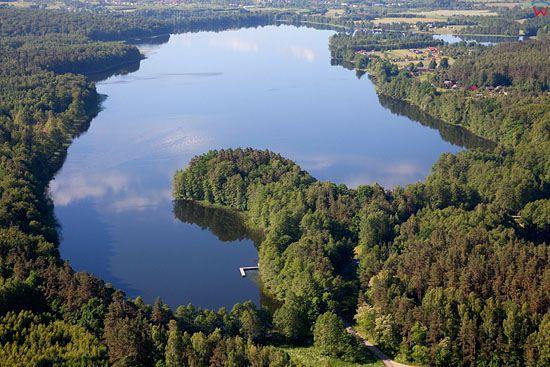 Lotnicze. PL, warm-maz. Jezioro Ilinsk - Jelonek.