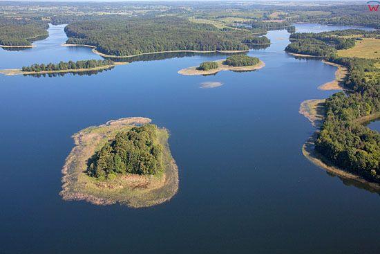 Lotnicze. PL, warm-maz. Jezioro Narie. Wyspa Kacza.