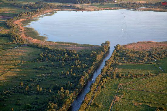 Lotnicze, EU, PL, Warm-Maz. Jezioro Szymon i Kanal Szymonski.