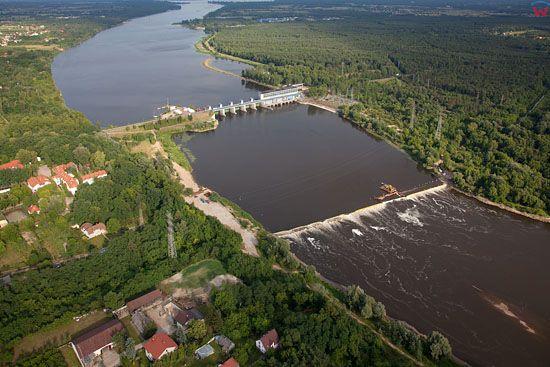 Debe, elektrownia wodna na Zalewie Zegrzynskim. EU, PL, Mazowieckie. LOTNICZE