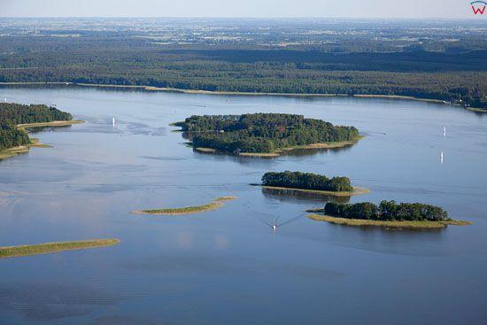Lotnicze, EU, PL, warm-maz. Jezioro Jeziorak, okolica Bukowiec. Park Krajobrazowy Pojezierza Ilawskiego.