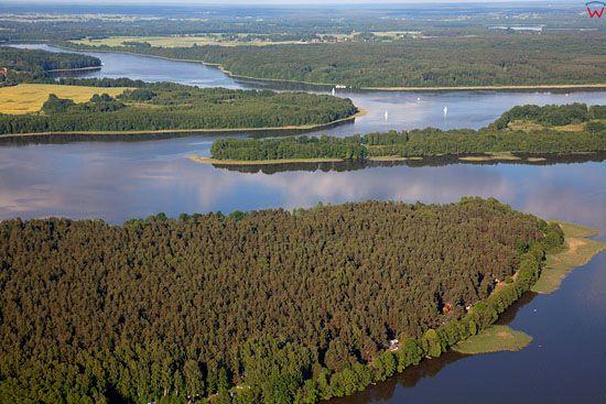 Lotnicze, EU, PL, warm-maz. Jezioro Jeziorak. Park Krajobrazowy Pojezierza Ilawskiego.