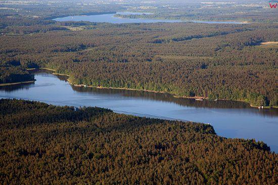 Lotnicze, EU, PL, warm-maz. Jezioro Jeziorak i Park Krajobrazowy Pojezierza Ilawskiego.