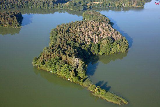 EU. PL, warm - maz. Lotnicze. Jezioro Nidzkie. Rezerwat Jezioro Nidzkie.