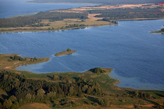 EU, PL, warm-maz. Lotnicze. Jezioro Tuchlinskie.
