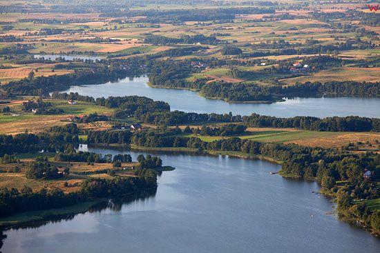 EU, PL, warm-maz. Lotnicze. Jezioro Buwelno i jezioro Ubik