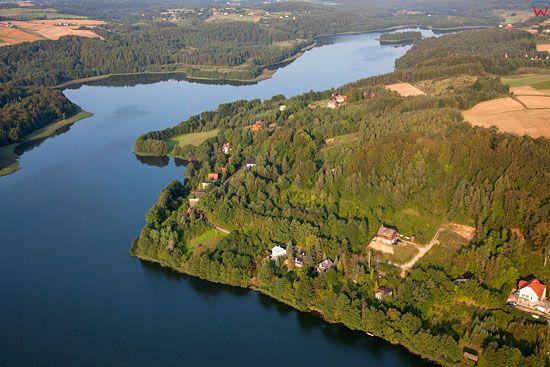 Lotnicze, EU, PL, Pomorskie. Kaszubski Park Krajobrazowy. Jezioro Ostrzyckie.
