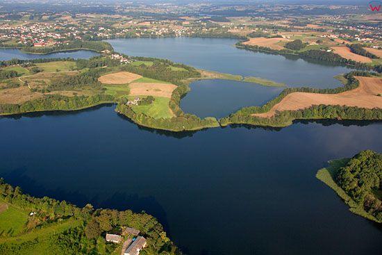 Lotnicze, EU, PL, Pomorskie. Kaszubski Park Krajobrazowy. Jezioro Rekowo i Biale.