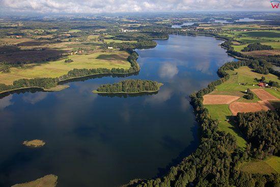 Lotnicze, EU, PL, warm - maz. Jezioro Lampackie.