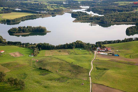 Lotnicze, EU, PL, warm - maz. Panorama na jezioro Nawiady.
