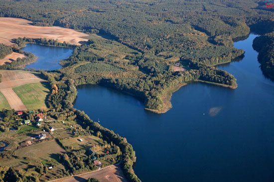 Lotnicze, EU, PL, Kujawsko - Pomorskie. Pojezierze Chełminskie. Jezioro Glowinskie.