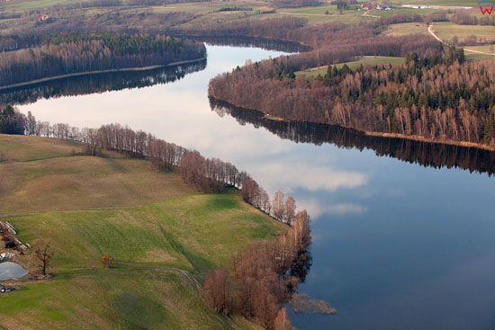 Jezioro Krzywe. EU, Pl, warm-maz, LOTNICZE.