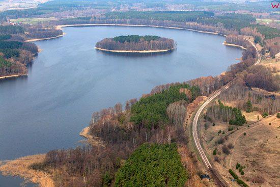 Jezioro Jedzelewo. Lotnicze, EU, Pl, warm-maz.