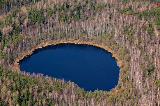Srodlesne jezioro. Lotnicze, EU, Pl, warm-maz.