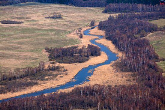Rzeka Sapina. Lotnicze, EU, Pl, warm-maz.