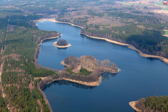 Jezioro Wydminskie. Lotnicze, EU, Pl, warm-maz.