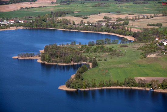 Jezioro Inulec. EU, Pl, warm-maz, LOTNICZE.