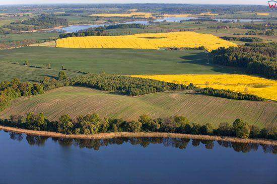 Jezioro Symsar. EU, Pl, warm-maz, LOTNICZE.