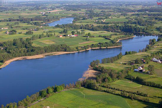 Jezioro Krzywolka. EU, Pl, warm-maz, LOTNICZE.