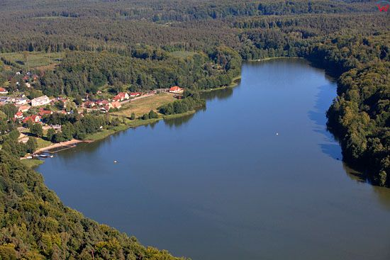 Jezioro Szelag Maly. EU, Pl, warm-maz. Lotnicze.