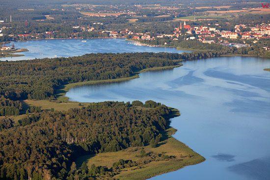 Jezioro Drweckie - Ostroda. EU, Pl, warm-maz. Lotnicze.