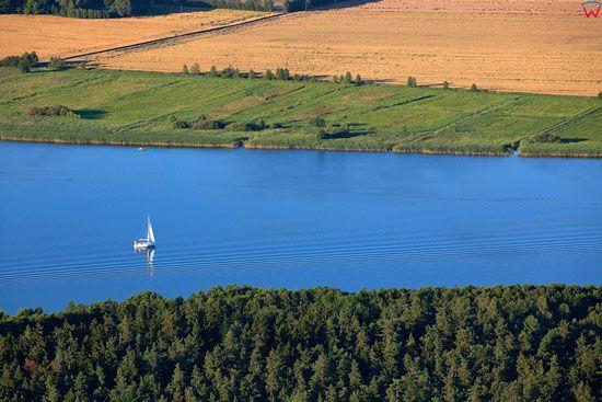 Jezioro Drweckie. EU, Pl, warm-maz. Lotnicze.