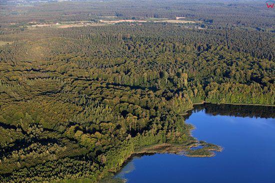 Jezioro Taborz. EU, Pl, warm-maz. Lotnicze.