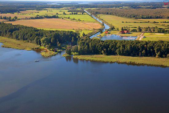Jezioro Ros i Kanal Jeglinski. EU, Pl, warm-maz. Lotnicze.