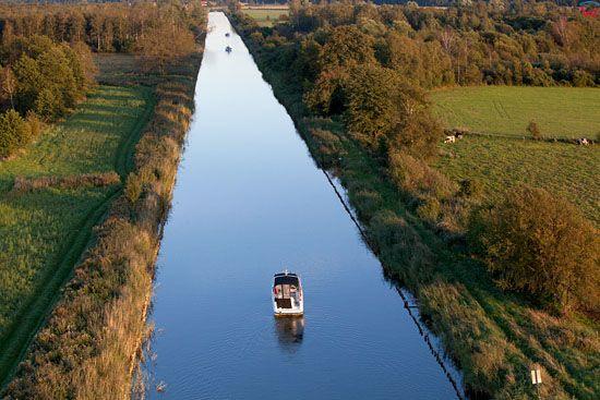 Kanal Jeglinski. EU, Pl, warm-maz. Lotnicze.