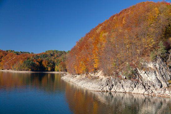 Jezioro Solinskie. EU, Pl, podkarpackie.