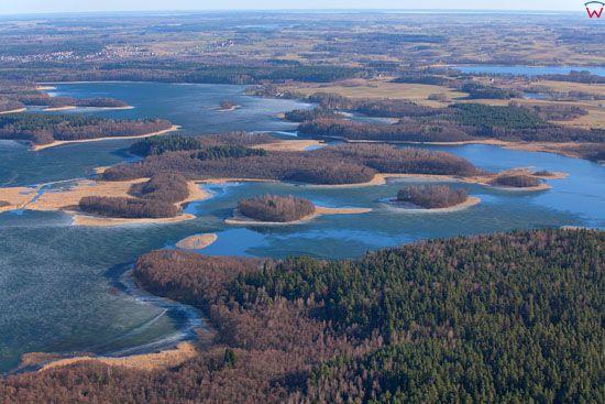 Jezioro Kisajno. EU. PL, Warm-Maz. LOTNICZE.
